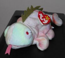 Ty Beanie Baby ~ IGGY the Iguana (Tye-Dyed w/ Spikes & Tongue) ~ MWMT'S