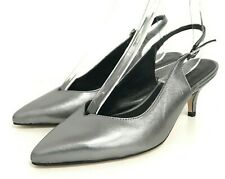 Jones Bootmaker Shoes UK6 EU39 Silver Patent Leather Singback Buckle 351863