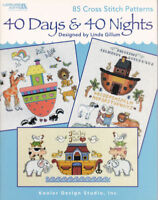 40 Days and Nights Noah's Ark Cross Stitch Chart Booklet 85 Designs Linda Gillum