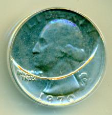 1970-D ANACS MS63 Plastic Struck *UNIQUE MINT ERROR* PQ Washington Quarter 25C