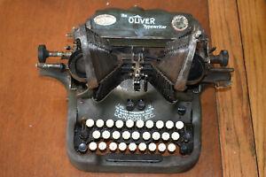 Vintage OLIVER Standart Visible Typewriter No:9 Manual -