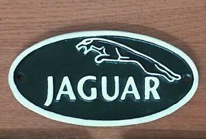 Jaguar Sign Cast Iron Repro Wall Plaque 17cm Garage Man Cave  **1 ONLY**