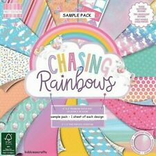 DOVECRAFT CHASING RAINBOWS 8 X 8 SAMPLE PACK 16 SHEETS - POSTAGE DEAL