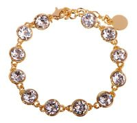 Swarovski Elements Crystal Brilliance Tennis Bracelet Gold Authentic New 7102z