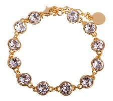 Swarovski Elements Crystal Brilliance Tennis Bracelet Gold Authentic New 7102y