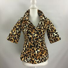 Forever 21 XXI Leopard Print Peplum Jacket Size S/P