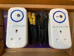 BT Broadband WIFI Extender Flex 1000 Powerline Adapter Kit - Twin Pack