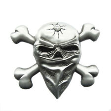 Skull with Mask Crossed Bones Metal Novelty Belt Buckle