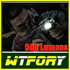TORCIA TATTICA RICARICABILE LED CREE Q5 500 LUMENS + ATTAC. WEAVER 20 X SCAR M16
