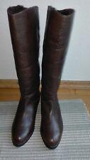 Damen Stiefel Winterstiefel Boots Schuhe Leder Echtleder Braun Mokka Gr. 37 NEU