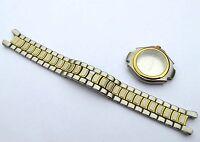 DUNHILL SUQH Quartz Watch Case and Bracelet/Strap Two-Tone set GENUINE RARE ITEM