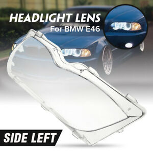 for BMW 2002-2005 E46 325i 325Xi 330i 330Xi Headlight Lens Lamp Cover Left Side