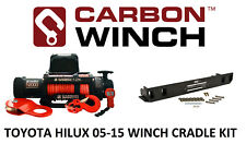 Carbon Electric winch with 12K 12000lb WITH TOYOTA HILUX IN BUMPER WINCH CRADLE