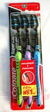 3x Colgate Toothbrush Super Flexi Black bristles Soft Gentle Clean Teeth Gums