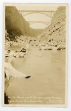 Highway Bridge Crooked River Dalles  Oregon RPPC real photo Postcard