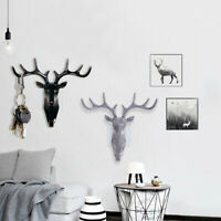 Animal Deer Antlers Wall Hook Hanger Holder Coat Hat Key Hanging Rack Decor G6A