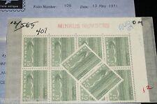 Blk of 10 + 2 DENMARK 1963 407 SLANIA RAIL BIRD FLIGHT LINE INAUGURATION GERMANY