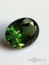 Chrome Diopside #M 450. Oval 10x8mm. 2.85 Ct. Created Gemstone Monosital US@GEMS
