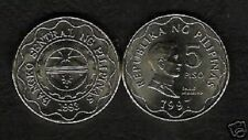 PHILIPPINES 5 PESOS KM272 1997 DATE AGUINALDO UNC CURRENCY ASEAN MONEY COIN