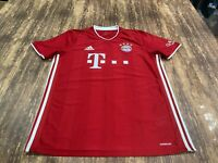 FC Bayern Munich Men's Red Soccer Jersey - Adidas Aeroready - Large - Munchen