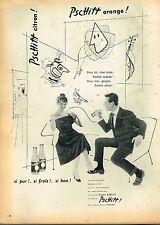 D- Publicité Advertising 1955 Limonade Soda Pschitt avec Brigitte Bardot