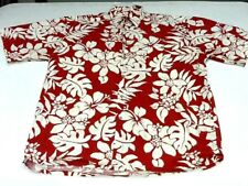 MENS PREOWNED SS SPORT SHIRT LARGE COTTON FLORAL PIERRE CARDIN MAUI  HAWAII 204