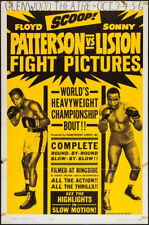 FLOYD PATTERSON SONNY LISTON ORIGINAL VINTAGE BOXING POSTER 1962