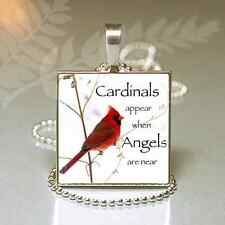 Cardinal Bird Memorial Necklace Remembrance Sympathy Gift Loss of Loved One