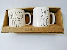 Rae Dunn Mug Set GOOD EGG & BAD EGG.New Easter 2019 RARE VHTF 🥚