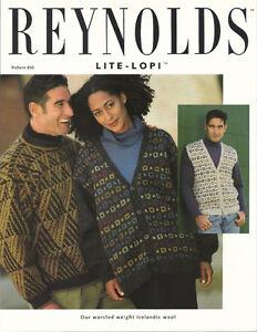 Lite-Lopi Cardigan/vest and Pullover Patterns