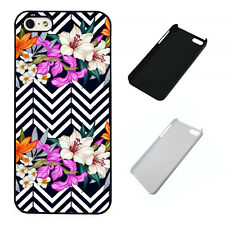 Cool Flower Pattern plastic phone case Fits iPhone