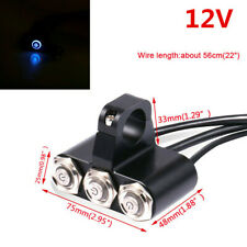 "7/8"" Motorcycle Handlebar Headlight Fog Light Switch LED Manual-return Buttons"