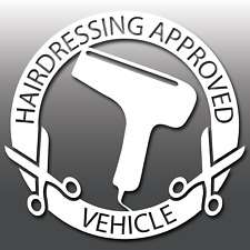 Funny Hairdressing Approved Vehicle Convertible Car Vinyl Decal Sticker JDM DUB