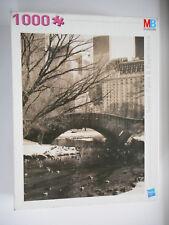 """Puzzle """"Manhattan"""", Paysage avec un pont, couleurs Sépia, 1000 pièces, MB Hasbro"""