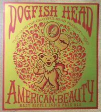 Dogfish Head American Beauty Hazy Ripple Metallic Poster Grateful Dead 12x13.5