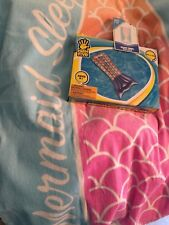 Mermaid Summer Bundle 2 Items Mermaid Tail Beach Towel & Mermaid Tail Float Pool