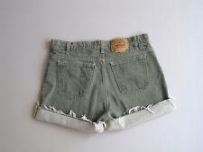 "Vtg Levi's Cut Off Denim Shorts Boyfriend Jeans Faded Green 36"""