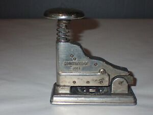 """Authentic Vintage HOTCHKISS No. 1 Stapler 4 ⅜""""x4""""x2"""" Patented Jan. 1925 USA Made"""