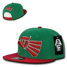 Green & Red Mexican Hecho En Mexico Eagle Aguila Embroided Snap back Hat Cap