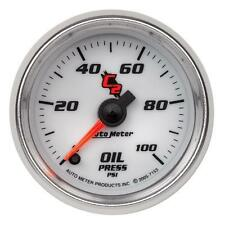 UNIVERSIAL DODGE FORD CHEVY AUTO METER  C2 SERIES OIL PRESSURE GAUGE 7153..