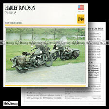 #001.14 HARLEY-DAVIDSON WLA 750 MODEL 45 Fiche Moto Military Motorcycle Card