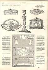 1862 P Germain Goldsmith compositions Miroir d'eau pichet tasse boite poudre