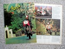 vintage GIACOMO AGOSTINI MOTORCYCLE Article/Photo's/Pictures: AGO