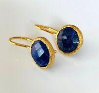 Lapiz Lazuli Ohrringe, 925 Silber vergoldet