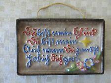 sehr schöner alter Haussegen Hausspruch Goebel Oeslau Keramik 50er Sütterlin