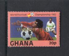 Ghana 1983 WORLD CUP SOCCER WINNER ITALY OVERPRINT IN GOLD  MNH Sc 826