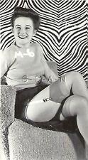 Vintage Originale 40s-50s Semi Nude Rp- Zebra Strisce- Maglione- Up Gonna Chiusa