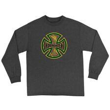 Independent Trucks Coil Long Sleeve Skateboard Shirt Charcoal Heather Xl