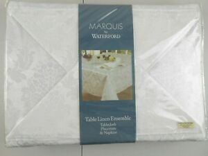 Marquise By Waterford Table Linen Ensemble 25PC Set Table Cloth 60X144 MSRP $160