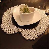 1 Stk Mode Elegant Faux Perle Party Bib Gefälschte Kragen Frauen Damen Halskette
